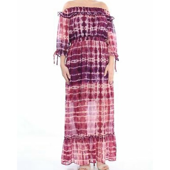 Jessica Simpson Dresses & Skirts - JESSICA SIMPSON: Women's Pink Tie Dye Maxi Dress